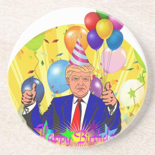 happy birthday trump coaster