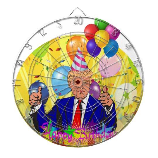 happy birthday trump dartboard