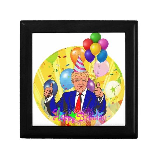 happy birthday trump gift box