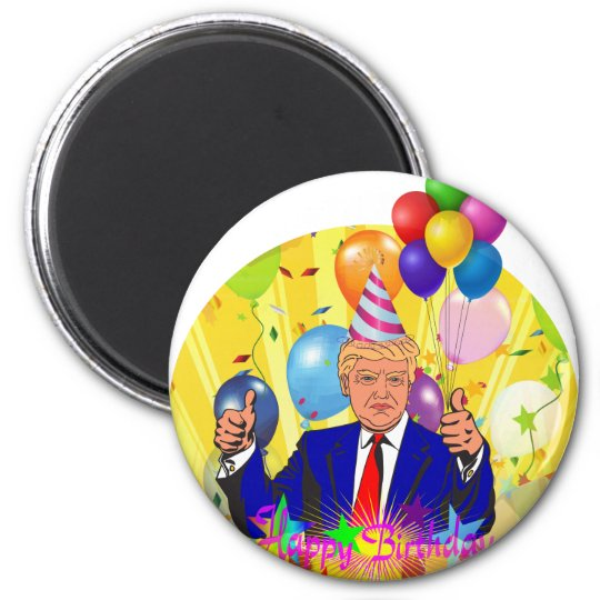 happy birthday trump magnet