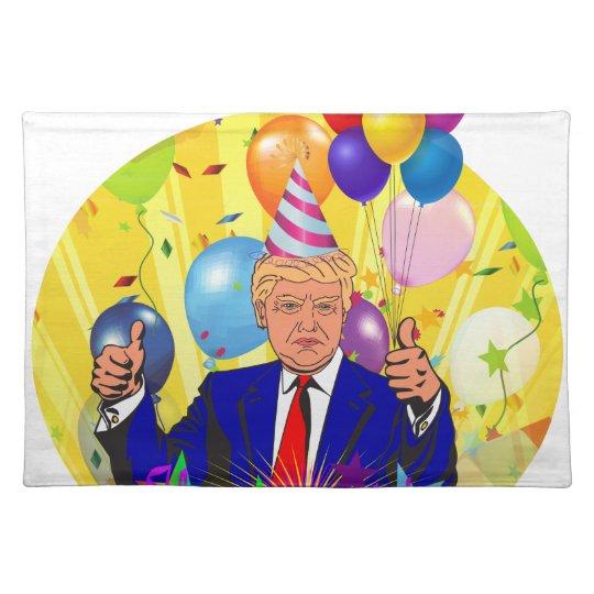 happy birthday trump placemat