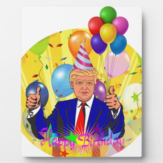 happy birthday trump plaque