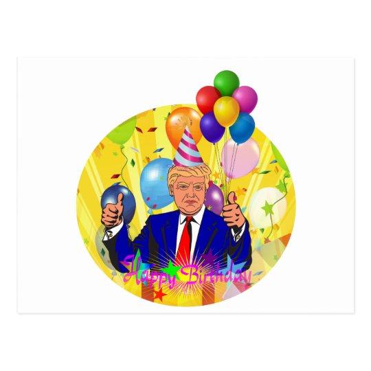 happy birthday trump postcard