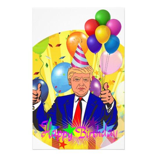 happy birthday trump stationery