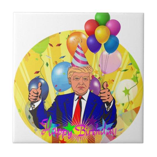 happy birthday trump tile