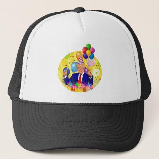 happy birthday trump trucker hat