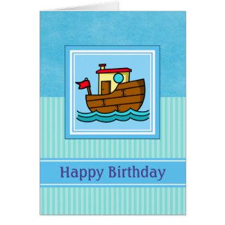 Happy Birthday Tug Boat Card