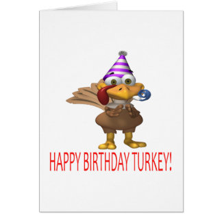 Happy Birthday Turkey Card