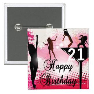 Happy Birthday turning 21 | DIY AGE 15 Cm Square Badge