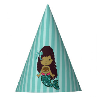 Happy Birthday Turquoise Mermaid Birthday Hat