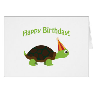 Happy Birthday! Turtle Note Card