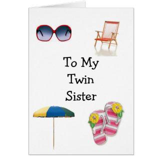 HAPPY BIRTHDAY TWIN SISTER CARD