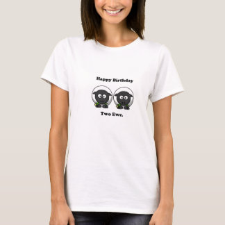 Happy Birthday Two Ewe To You Cartoon T-Shirt