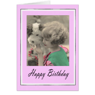 happy birthday - vintage child card