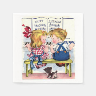 Happy Birthday Vintage kids paper napkins