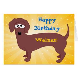 Happy Birthday Weiner Card