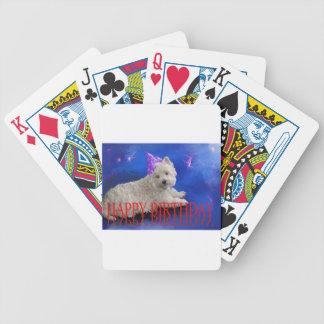 Happy Birthday Westie Bicycle Playing Cards