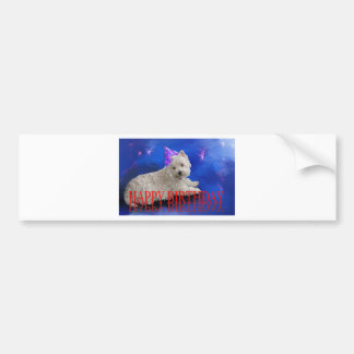 Happy Birthday Westie Bumper Sticker