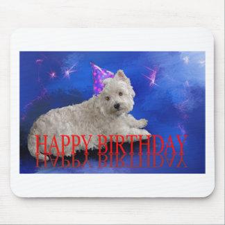 Happy Birthday Westie Mouse Pad