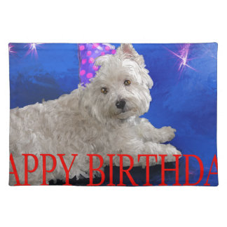 Happy Birthday Westie Placemat