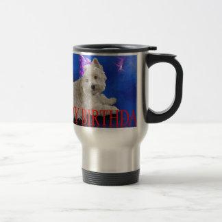 Happy Birthday Westie Travel Mug