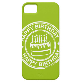 Happy Birthday -white rubber stamp effect- iPhone 5 Case