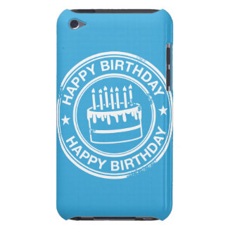 Happy Birthday -white rubber stamp effect- Barely There iPod Cover