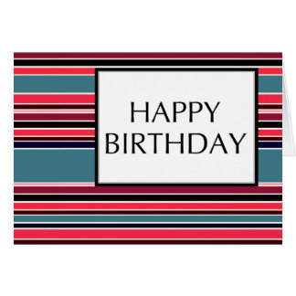 happy birthday (wineStripes) Card