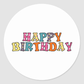 Happy Birthday Wishes Classic Round Sticker
