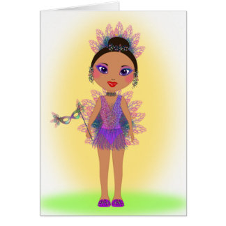 Happy Birthday with a Colorful Glitter Girl Card