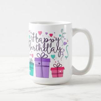 Happy Birthday with Gifts Coffee Mug