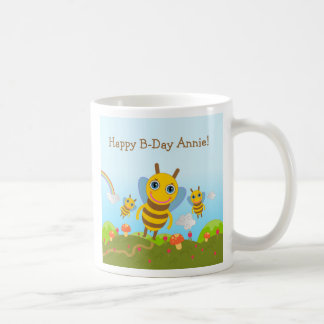 Happy Birthday with honey bees Coffee Mug