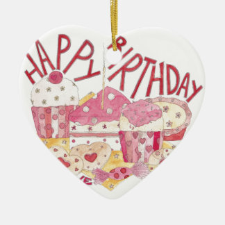 Happy Birthday With Love Ceramic Ornament