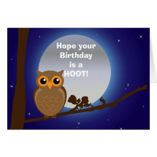 Happy birthday with owl birthday humor card