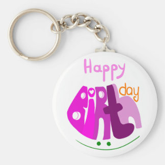 Happy Birthday with smile keychain