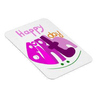 Happy Birthday with smile premium magnet