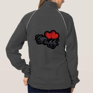 Happy Birthday with two red hearts Jacket