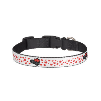 Happy Birthday with two red hearts Pet Collar