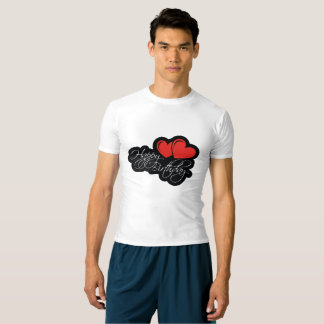 Happy Birthday with two red hearts T-Shirt