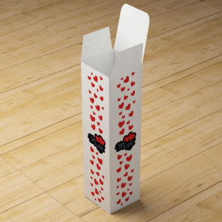 Happy Birthday with two red hearts Wine Bottle Boxes