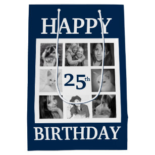 Happy Birthday With Year And 8 Instagram Photos Medium Gift Bag