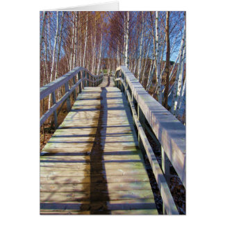 Happy Birthday - Wooden Path Card