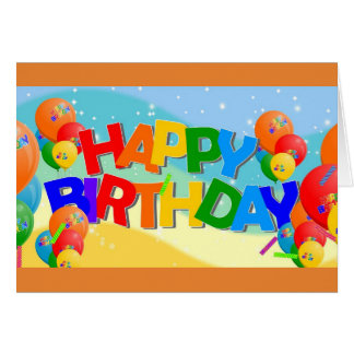 Happy Birthday Words Card