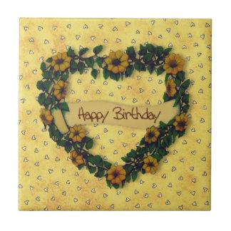 Happy Birthday Wreath Tile