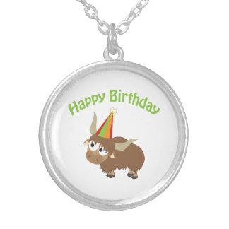 Happy Birthday Yak Personalized Necklace
