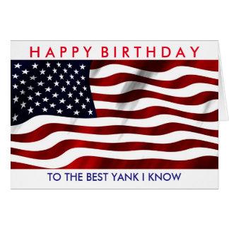 Happy Birthday Yank card
