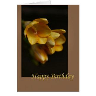 Happy Birthday Yellow Flowers Greeting Card