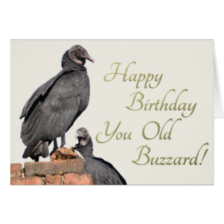 Happy Birthday You Old Buzzard! Greeting Card