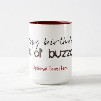 Happy Birthday You Ole' Buzzard Two-Tone Coffee Mug