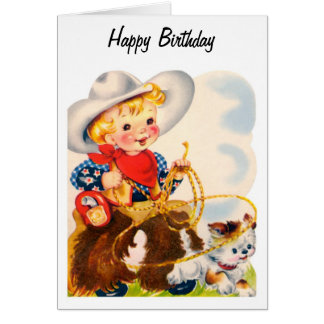 Happy Birthday - Young Cowboy Card